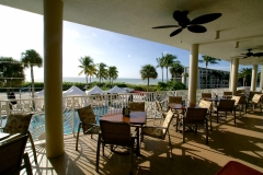 Sundial Resort Outdoor Dinning over looking pool & Gulf of Mexico